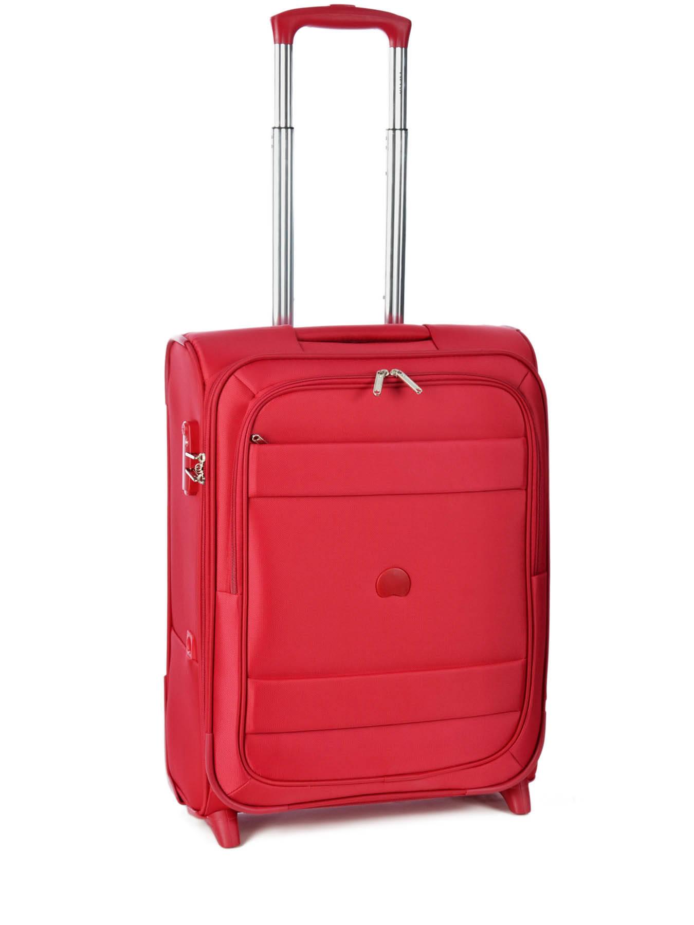 Valise cabine Delsey Indiscrete rouge en vente au meilleur prix - Valise Rouge