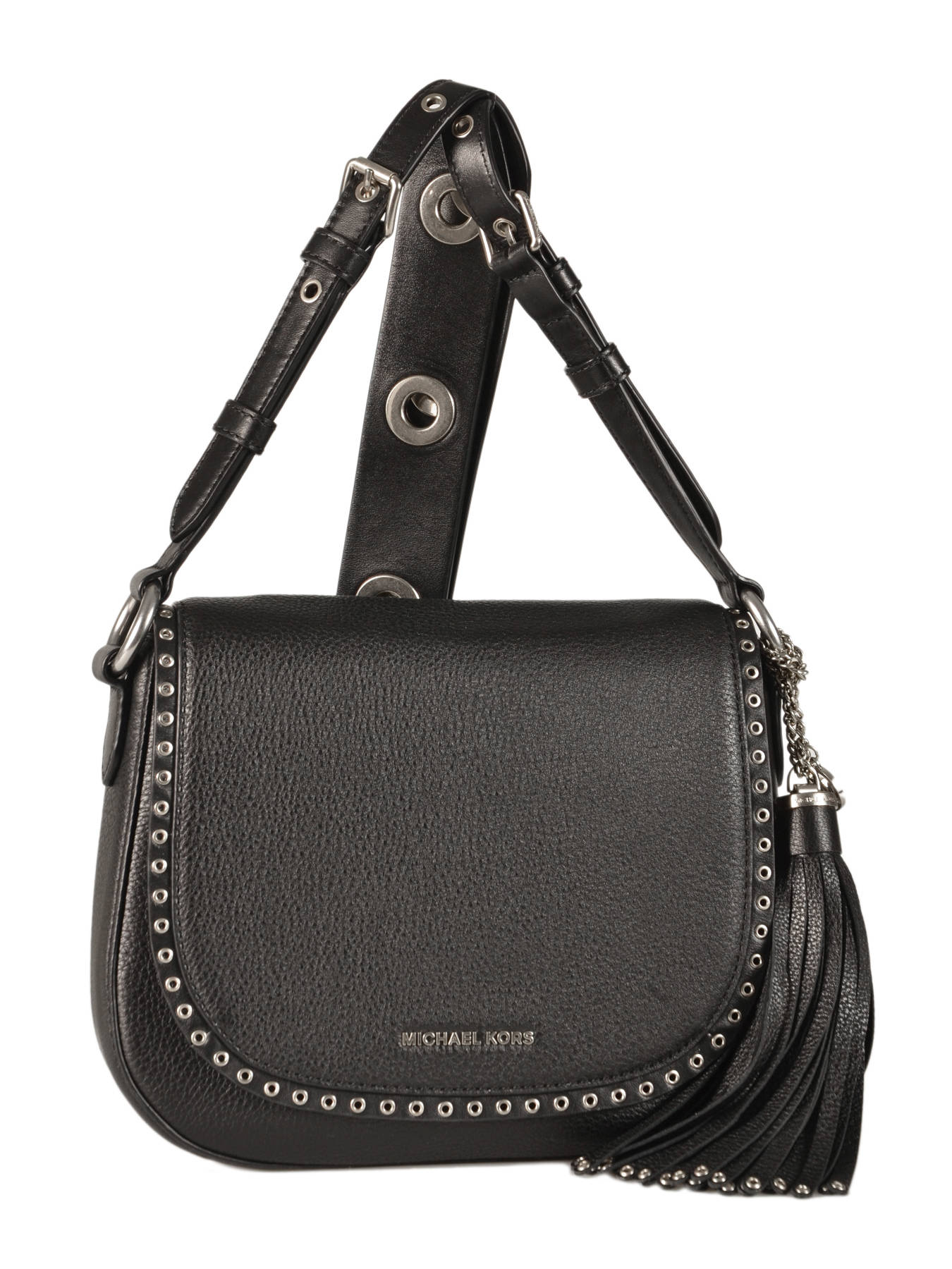 black and gray michael kors bag 2tin  Crossbody Bag Brooklyn Leather Michael kors Black brooklyn F6ABNM2L