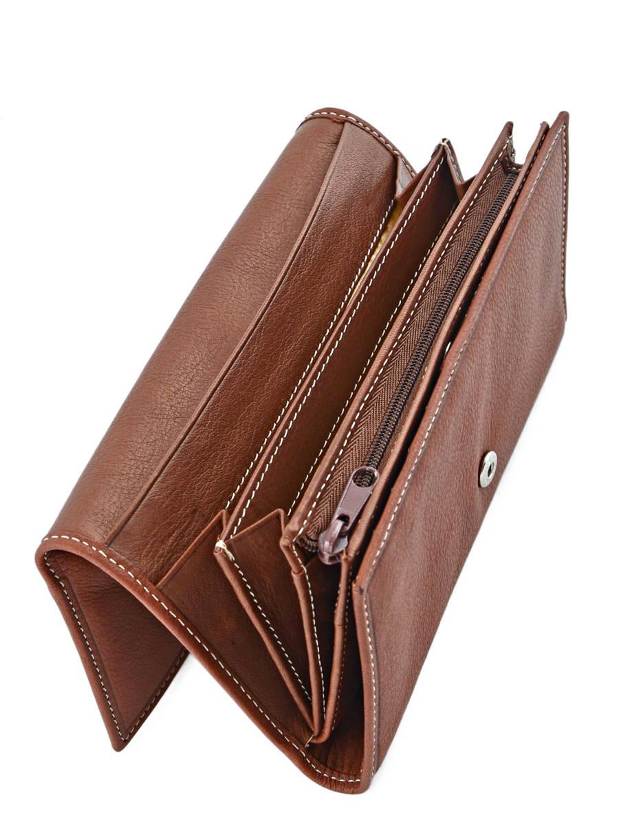 Porte monnaie petit prix cuir elegance marron moyen en for Porte secondaire