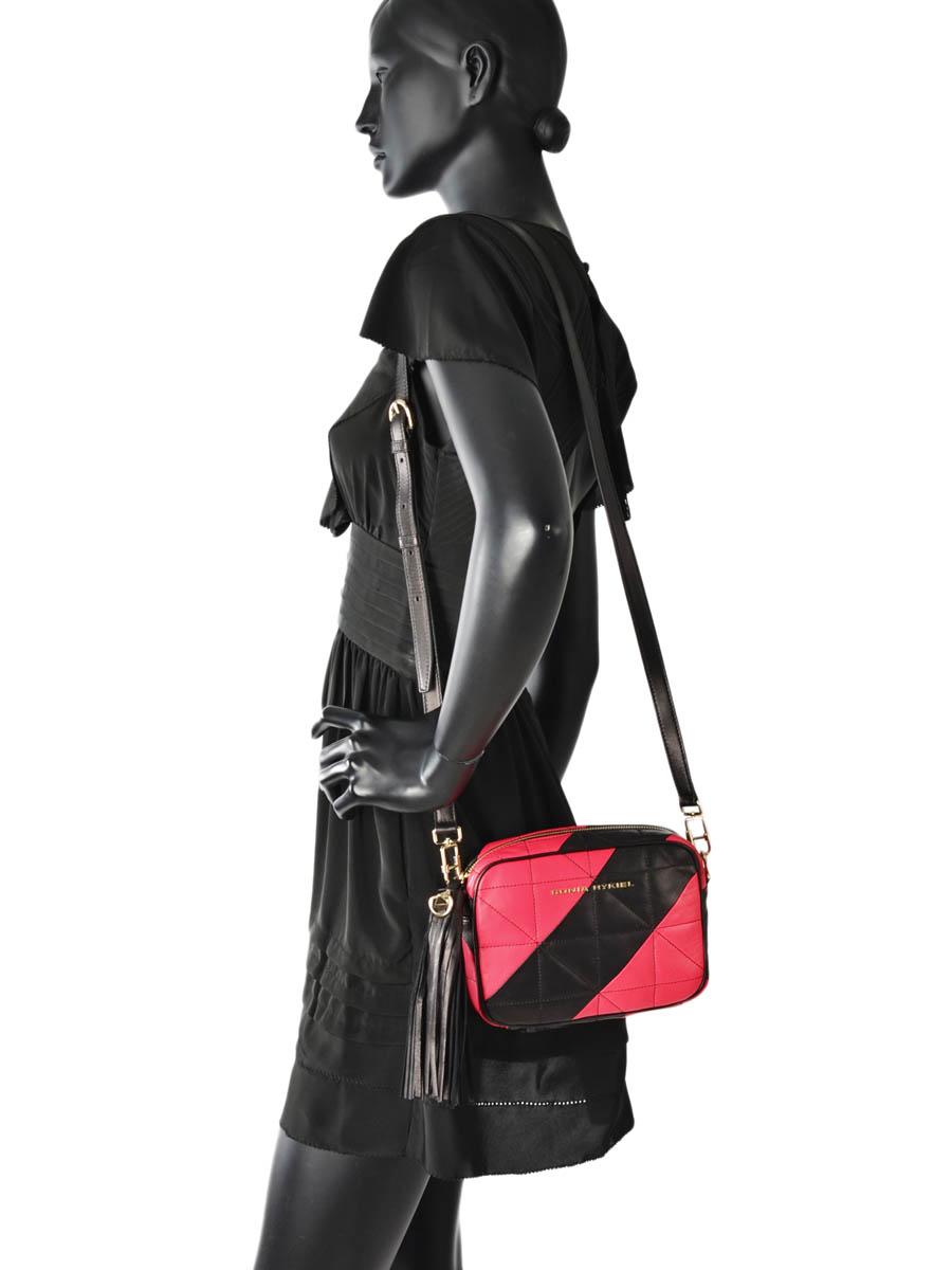 Shoulder Bag Copain Leather Sonia rykiel Pink copain 8164-43-vue-porte