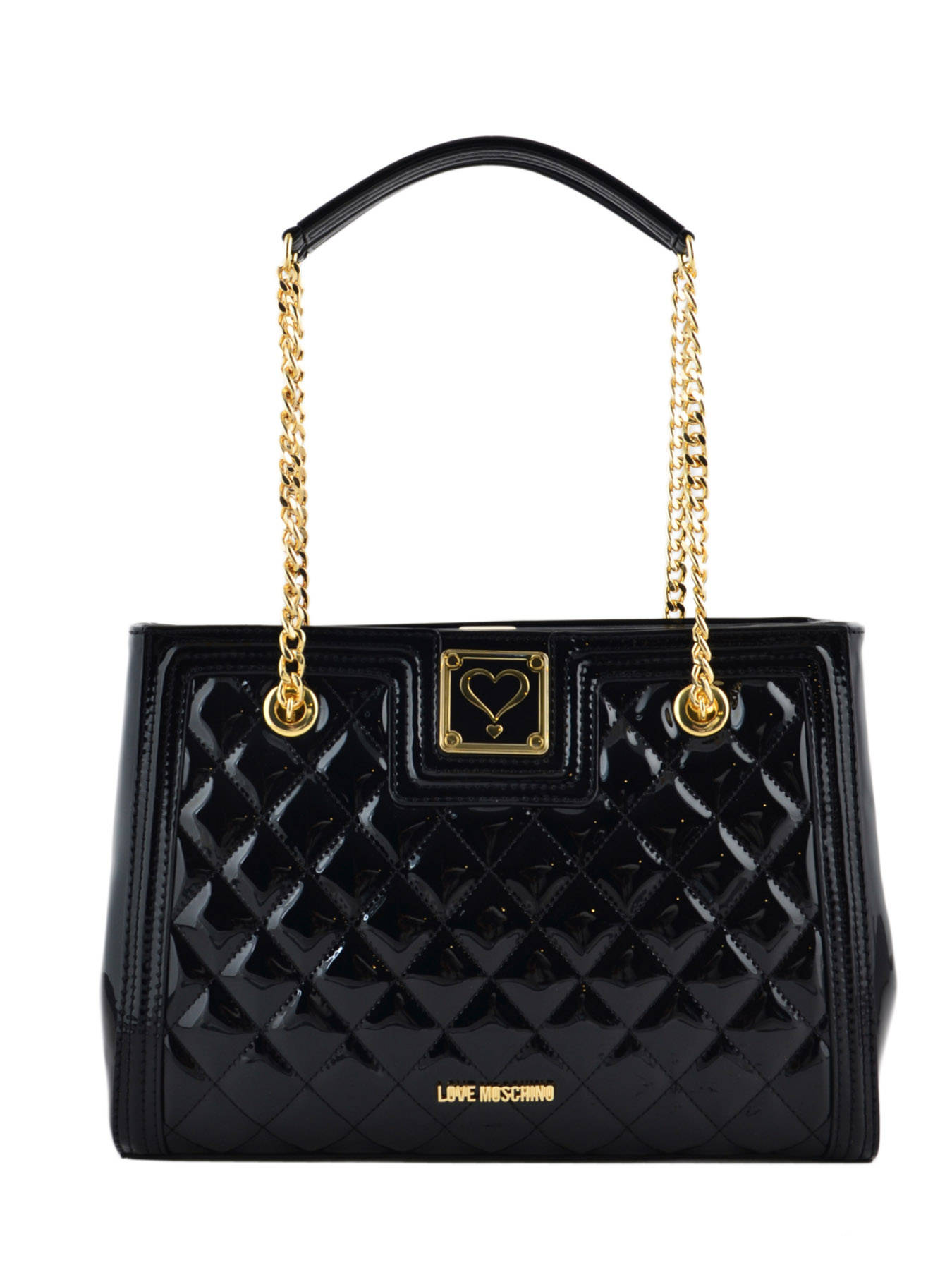 Sac Shopping Patent Quilted Verni Love moschino Noir patent quilted JC4021PP