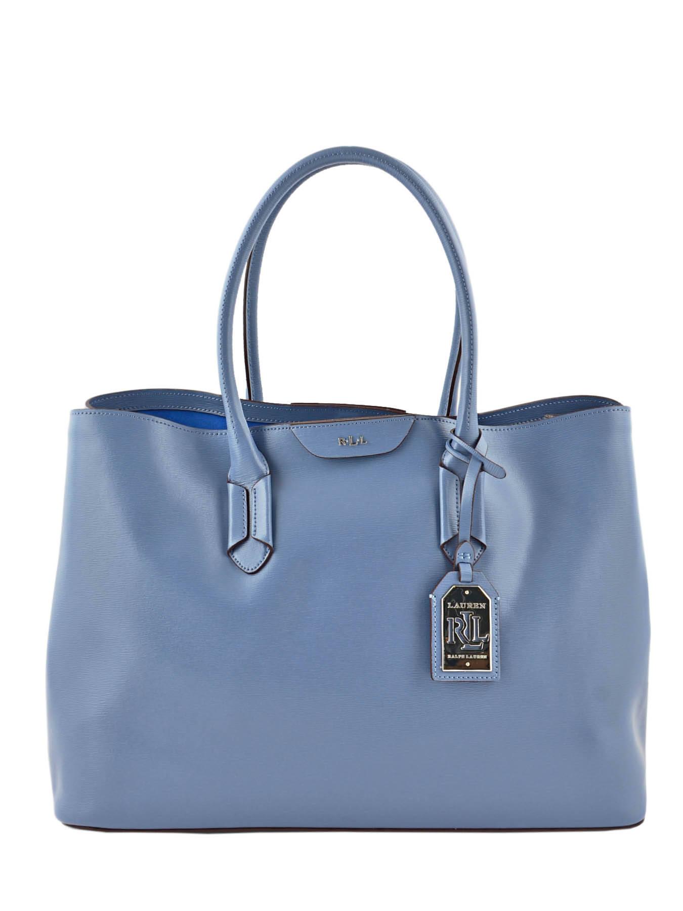 Cabas Tate Cuir Lauren ralph lauren Bleu tate N91L3366