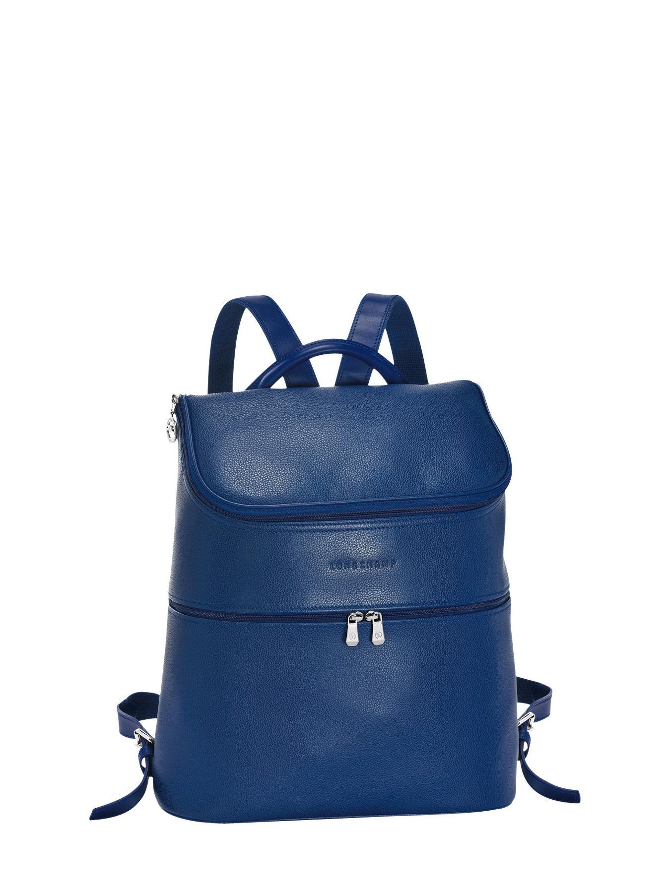 Longchamp Le foulonné Sac à dos Bleu
