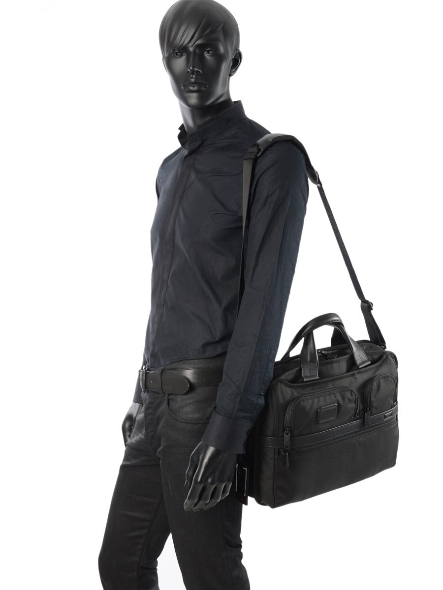 Briefcase Tumi Black alpha 2 business DH26516-vue-porte