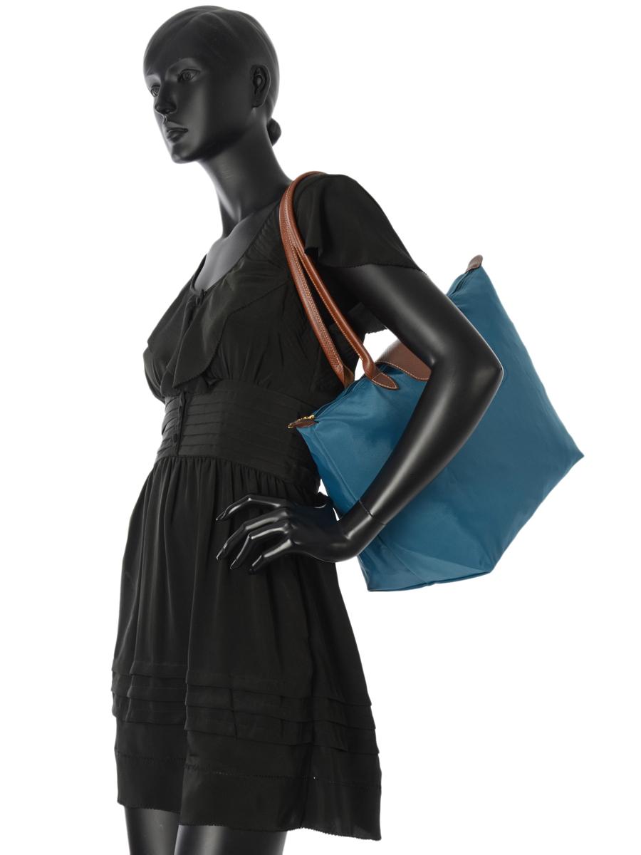 Longchamp Le pliage Hobo bag Blue-vue-porte