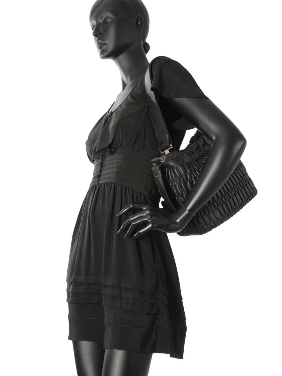 Bucket Bag Caos Leather Furla Black caos CAO-BLJ5-vue-porte