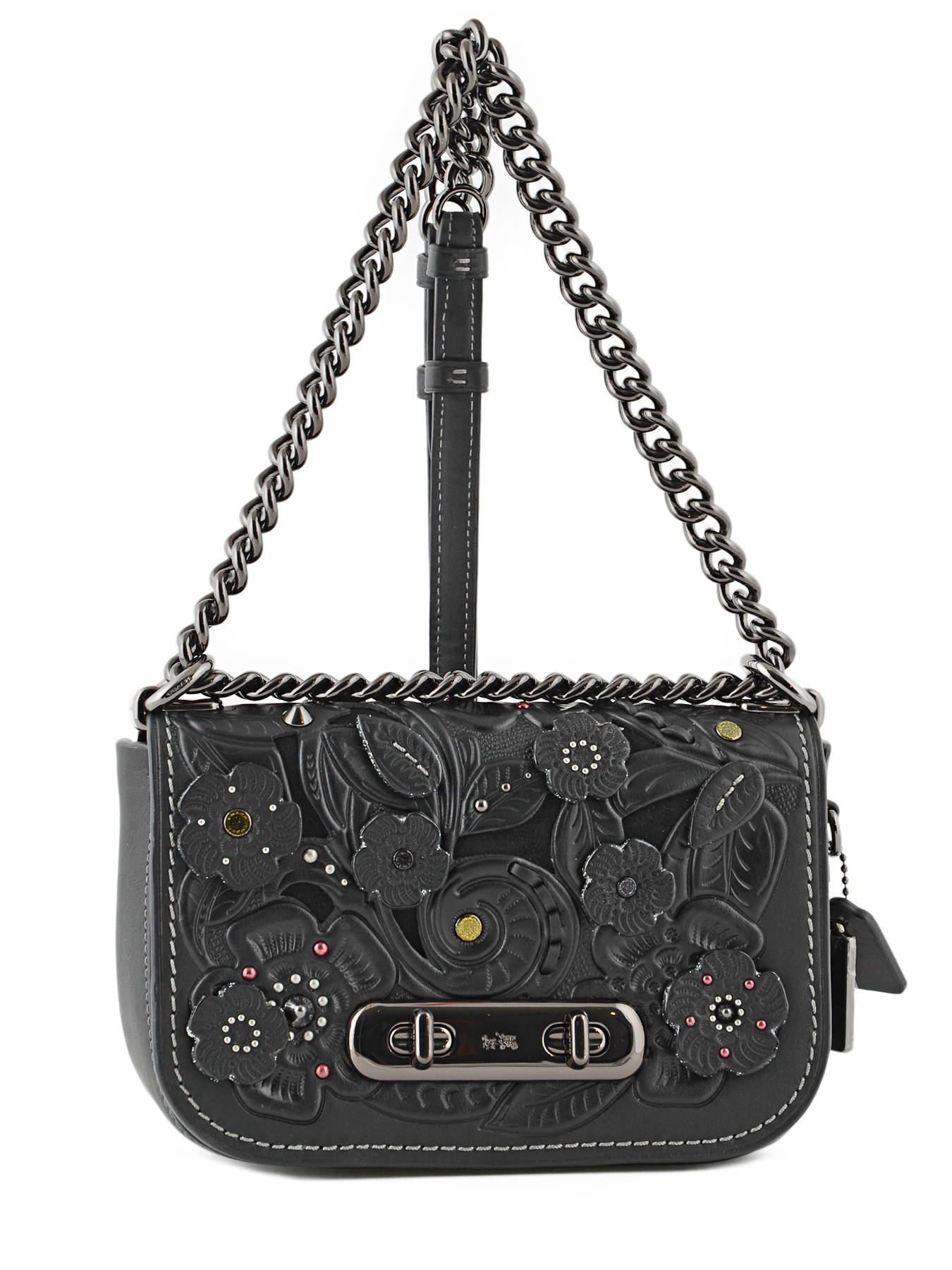 Top Handle Swagger 20 Leather Coach Black swagger 12038