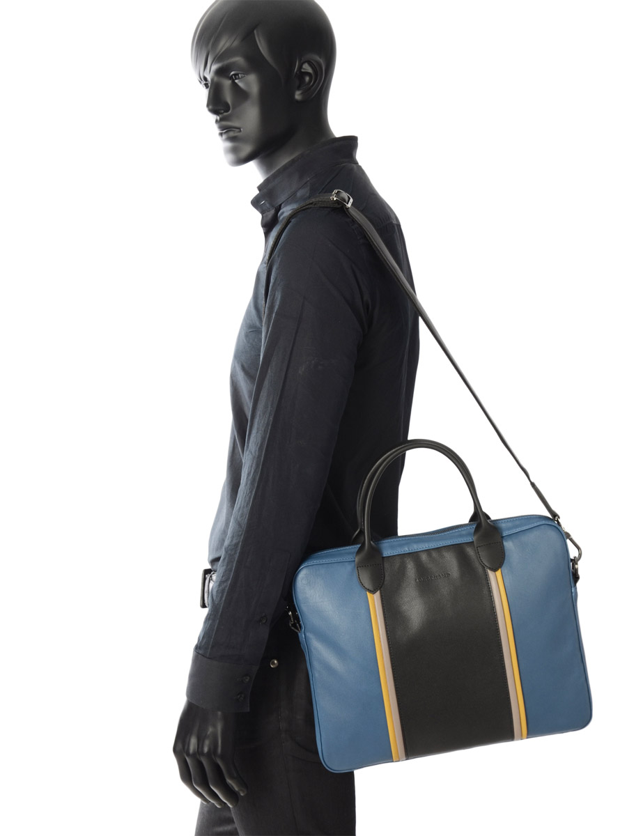 Longchamp Briefcase Blue-vue-porte