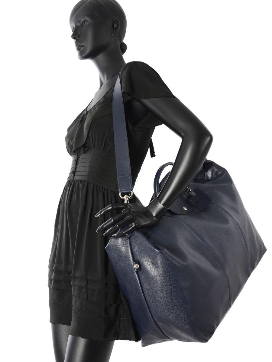Supple leather travel bag L Le Foulonné LONGCHAMP