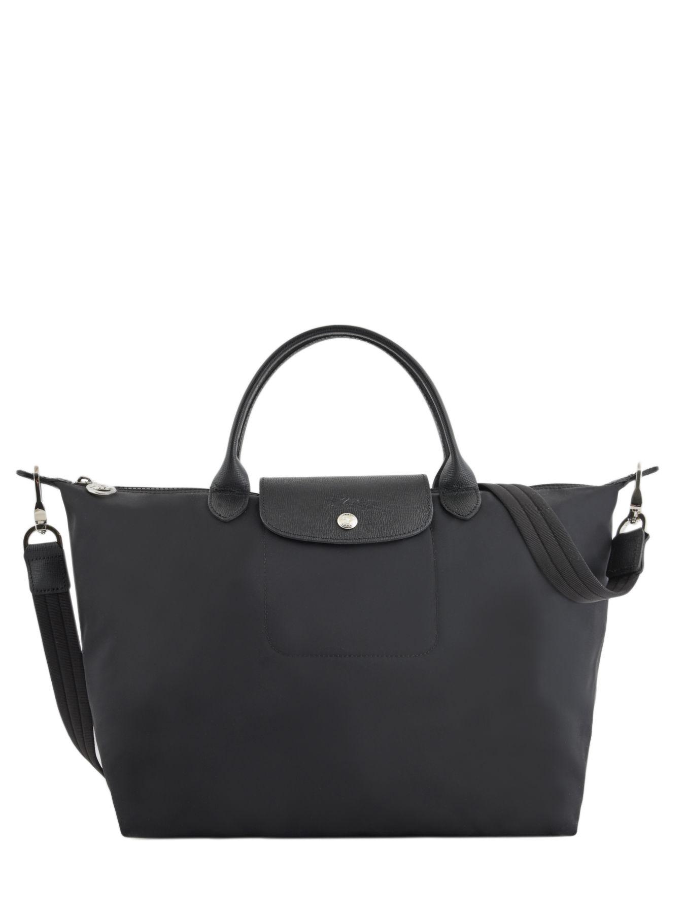 sac longchamp en toile noir