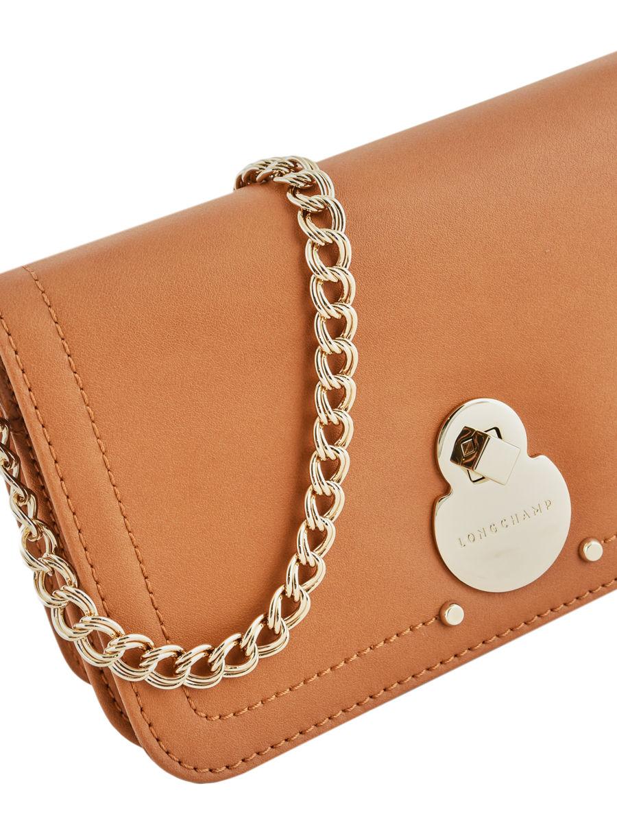 Leather evening bag Cavalcade LONGCHAMP