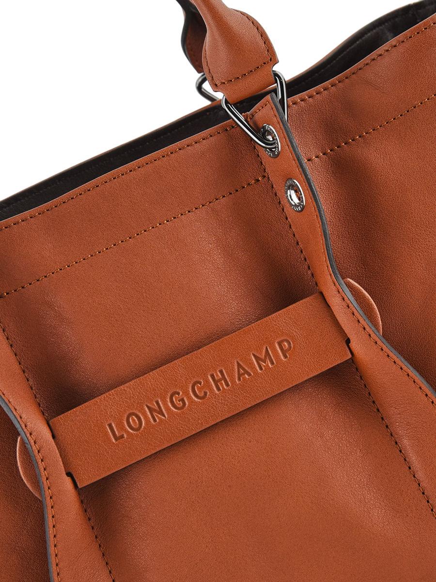 Sac à main M zippé Longchamp 3D cuir LONGCHAMP