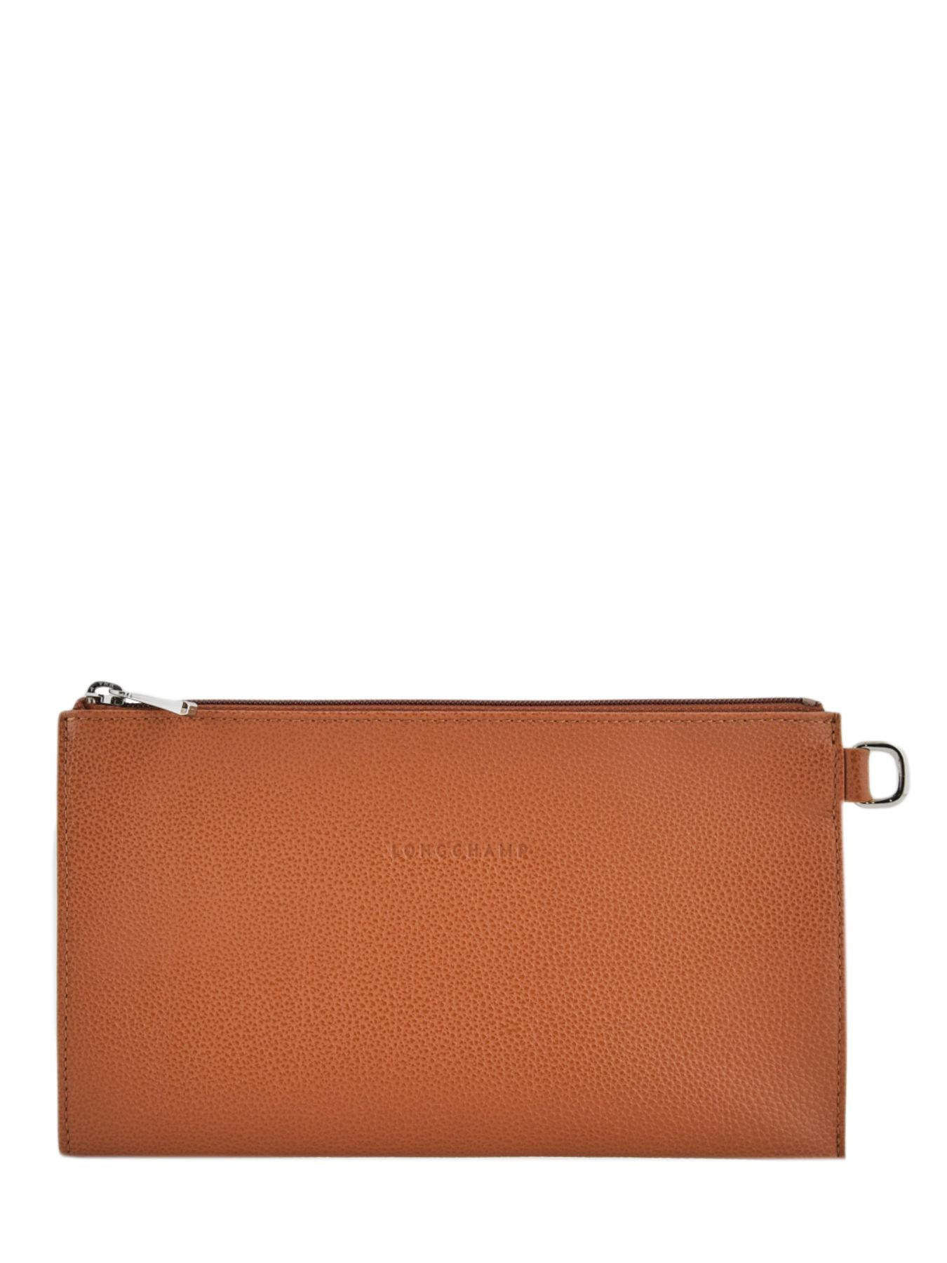Leather Le Foulonné pouch LONGCHAMP