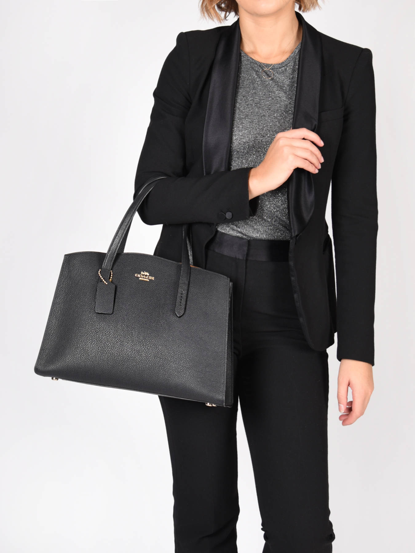 Top handle Charlie leather COACH