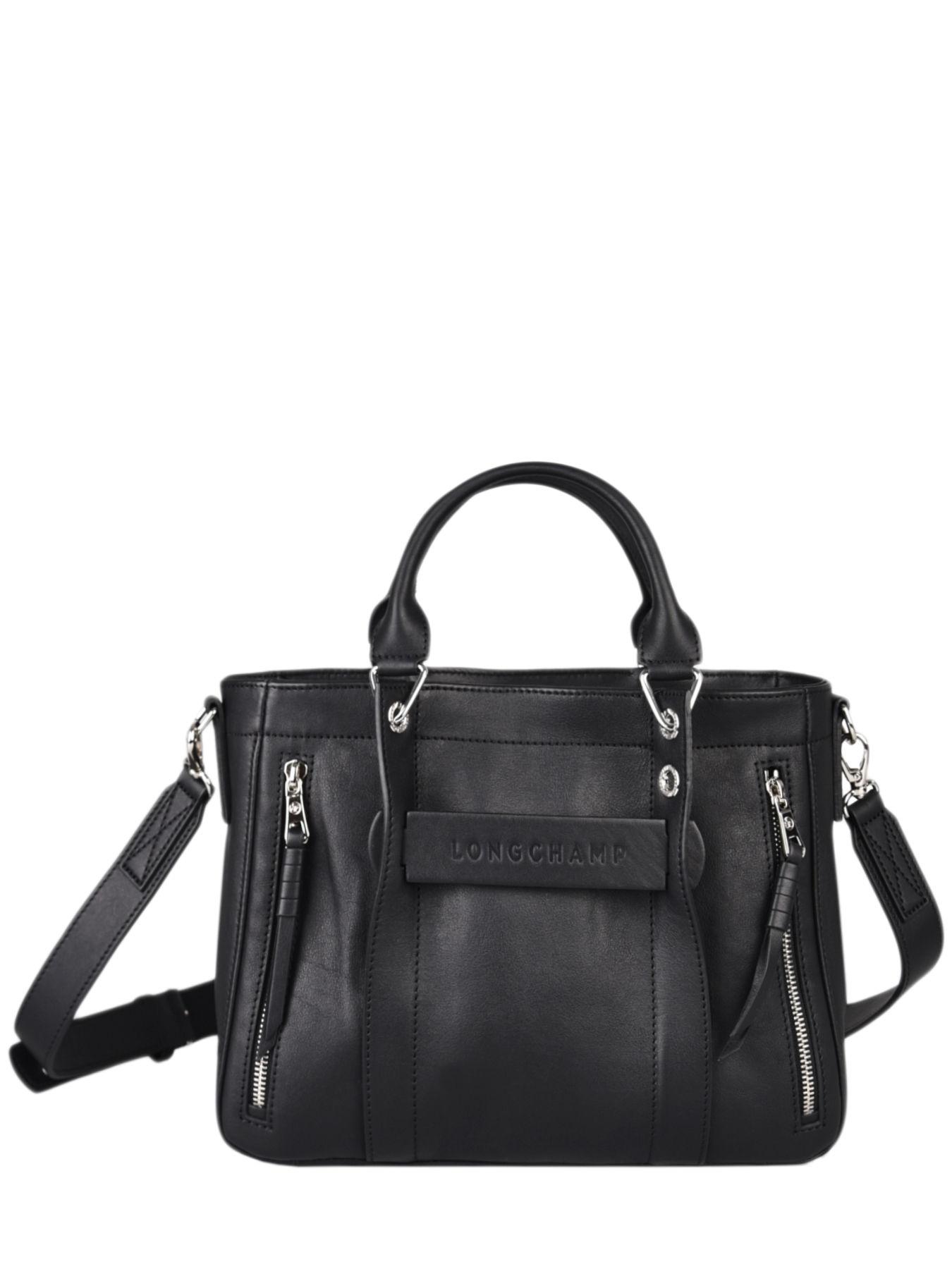 Small leather Longchamp 3D satchel LONGCHAMP