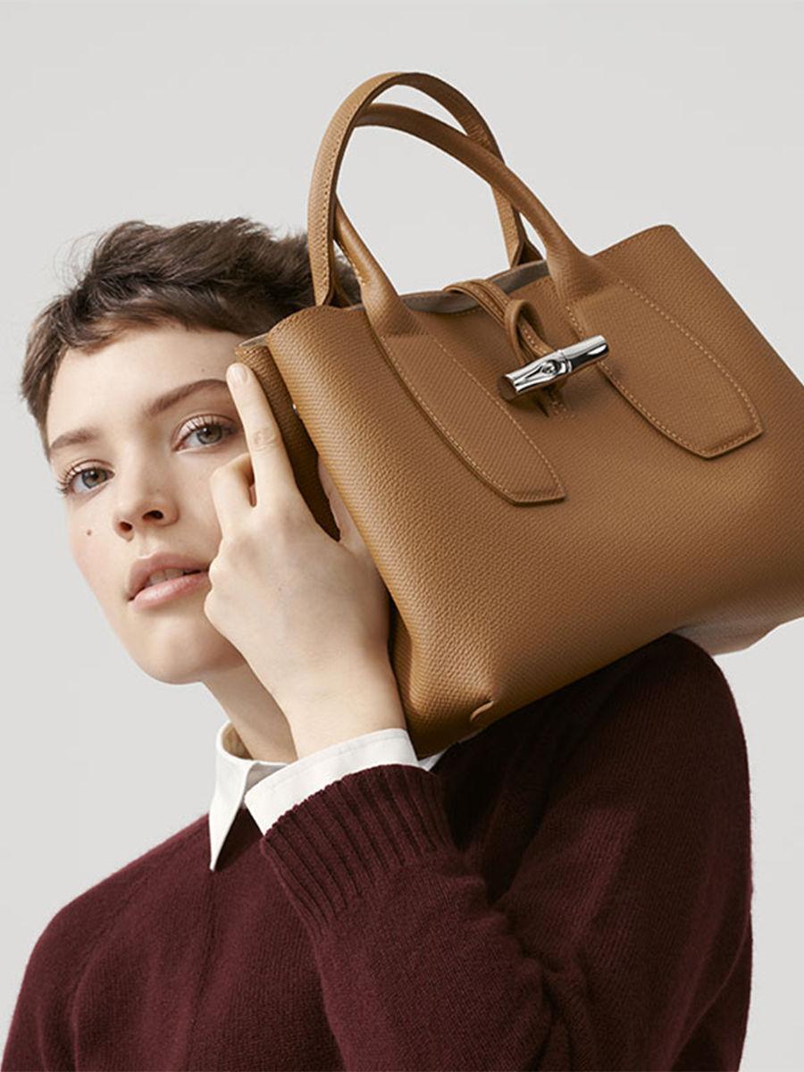Small leather top-handle Roseau LONGCHAMP