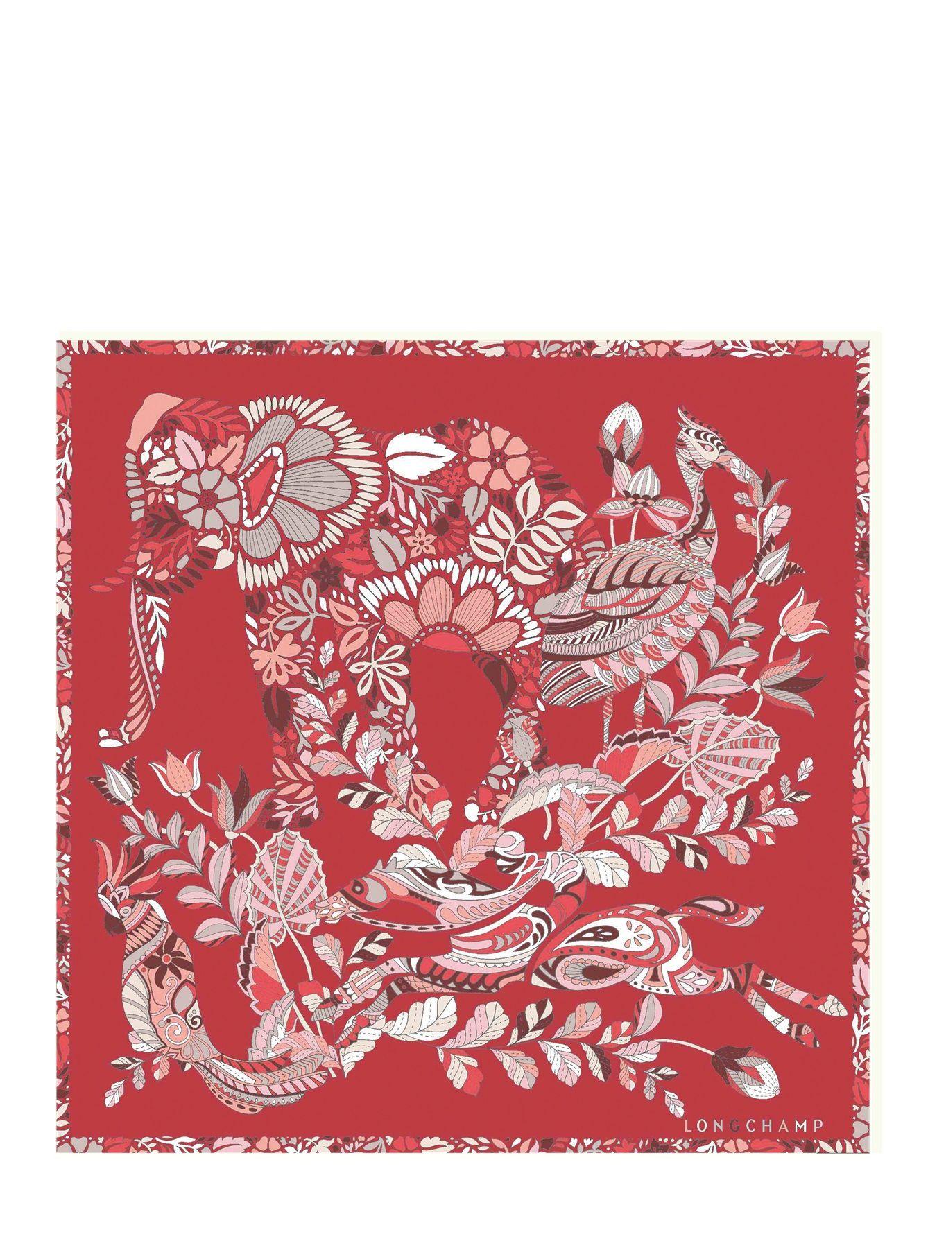 Silk scarf 50x50 Forêt LONGCHAMP