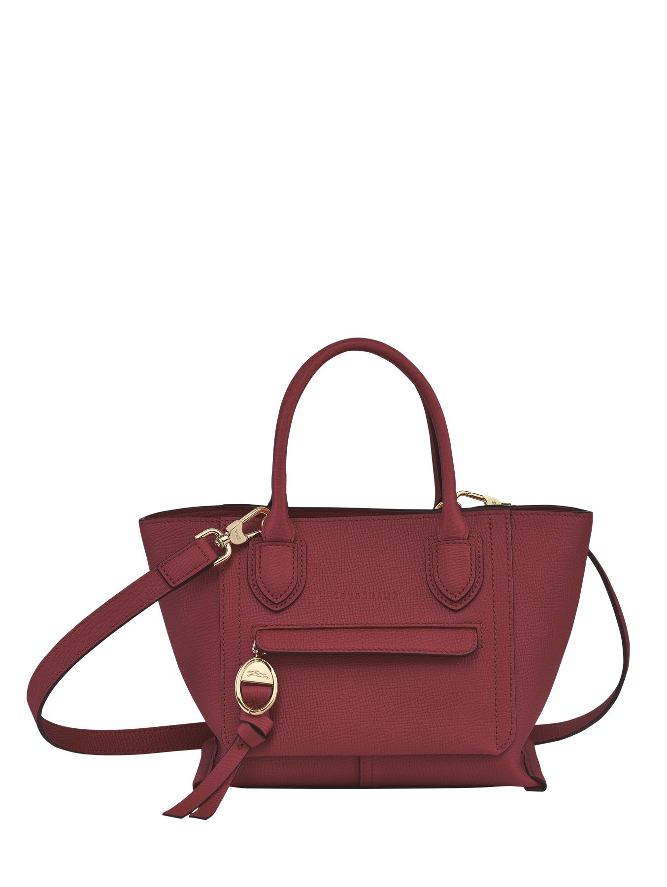 Small leather Mailbox top-handle bag LONGCHAMP
