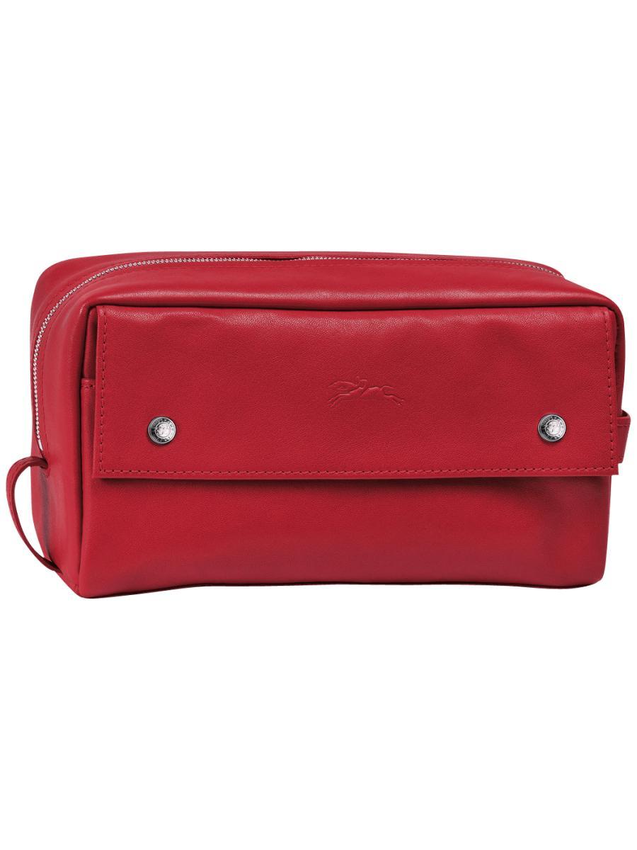 Longchamp Le pliage cuir Clutch Red