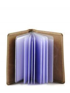 Card Holder Leather Etrier Blue blanco 600021-vue-porte