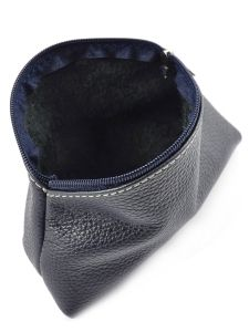 Trousse Cuir Milano Bleu caviar G009-vue-porte