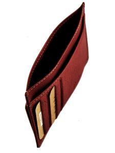 Wallet Leather Katana Brown vachette gras 853001-vue-porte