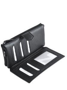 Leather Wallet Original N Nathan baume Red original n 104N-vue-porte