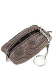 Purse Leather Francinel Brown bixby 69969-vue-porte