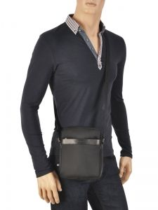 Crossbody Bag Lancaster Black basic sport men 304-07-vue-porte