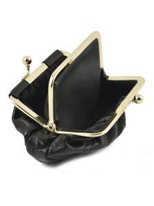 Purse Leather Petit prix cuir Black basic 046-vue-porte