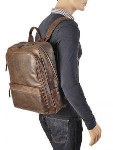 Backpack Gerard henon Brown outland 8366-vue-porte