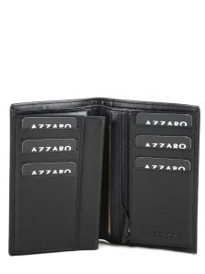 Wallet Leather Azzaro Black loris AZZ001-vue-porte