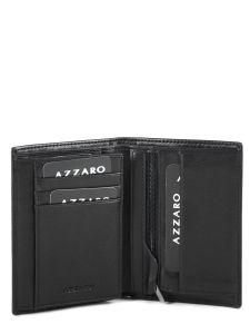 Wallet Leather Azzaro Black loris AZZ005-vue-porte