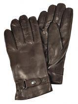 Gants Omega Marron laine 720COP Paire de gants classique avec doublure en laine de la marque Omega.