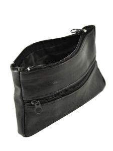Purse Leather Petit prix cuir Black basic 00017-vue-porte