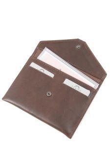 Porte-papiers Cuir Etrier Marron dakar 200054-vue-porte