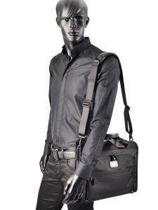 Briefcase 1 Compartment Tumi Black alpha 2 business DH26110-vue-porte