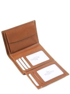 Wallet Leather Yves renard Brown bovino 70419-vue-porte