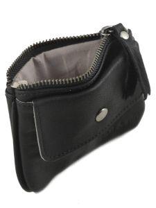 Purse Leather Nat et nin Black vintage TOMY-vue-porte