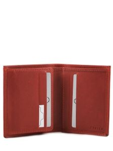Porte-cartes Cuir Etrier Rouge dakar 200015-vue-porte