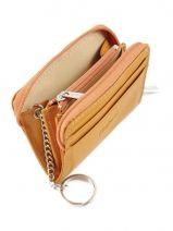 Purse Leather Katana Yellow basile 853042-vue-porte