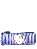 Trousse Hello kitty Bleu rainbow heart HPC20009