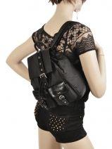 Backpack Lancaster Black 504-07-vue-porte