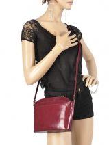 Shoulder Bag Collet Leather Milano Red collet P03-vue-porte