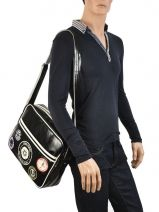 Crossbody Bag A4 Fred perry Black authentic L3174-vue-porte