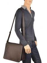 Crossbody Bag David william Brown alto D6177-vue-porte