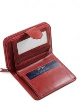 Wallet Leather Spirit Red medium 6543-vue-porte