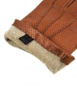 Gloves Omega Brown laine 717-vue-porte