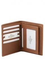Wallet Leather Yves renard Brown bovino 70426-vue-porte