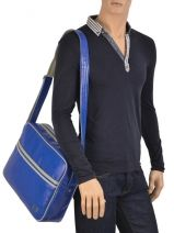 Crossbody Bag A4 Fred perry Blue authentic L1180-vue-porte